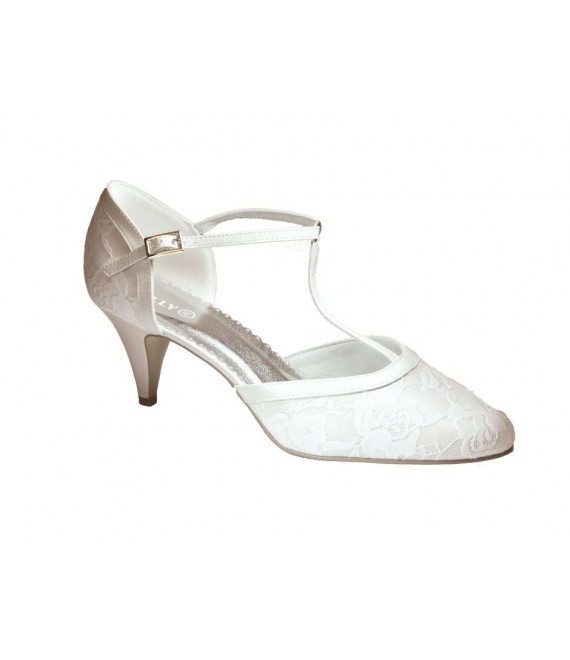 Lilly bruidsschoenen (07-1997-CR) - The Beautiful Bride Shop