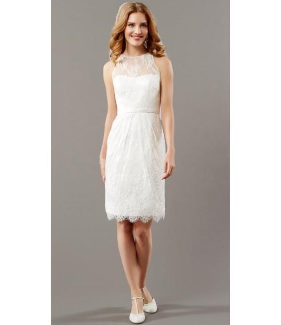 Korte trouwjurk 08-3736-CR Lilly  - The Beautiful Bride Shop