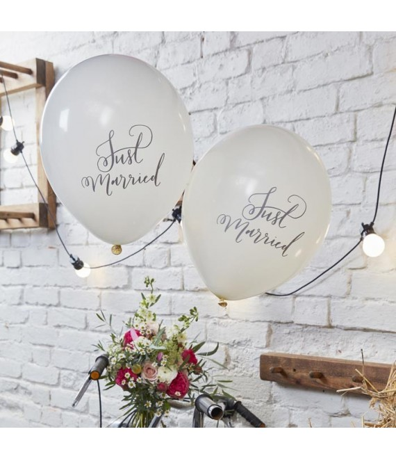 Just Married ballonnen Boho (10st) BH-717 | Ginger Ray