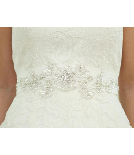 Lilly Belt 15-330-CR-200 - The Beautiful Bride Shop
