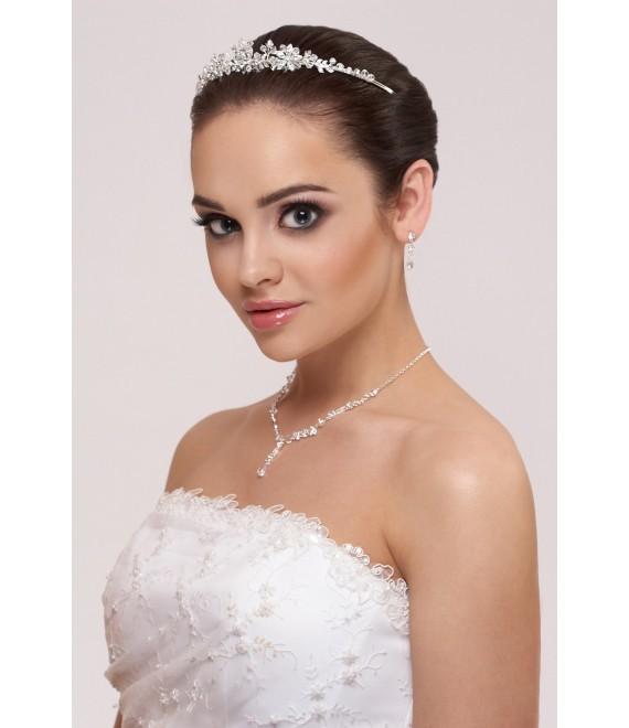 Tiara, ketting en oorbellen - The Beautiful Bride Shop