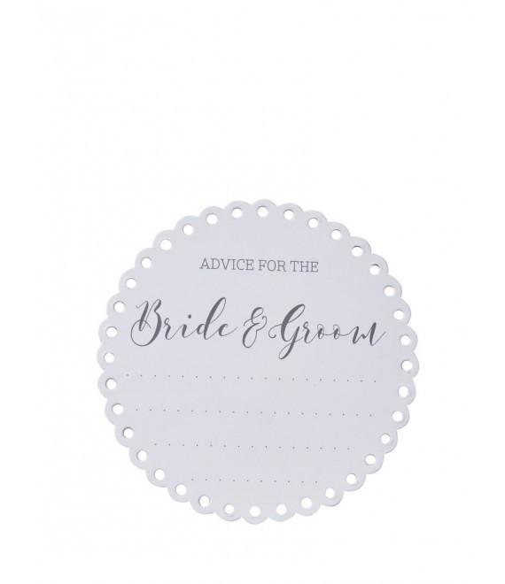 Advice For The Bride & Groom Coasters 2 - The BeautifulBrideShop