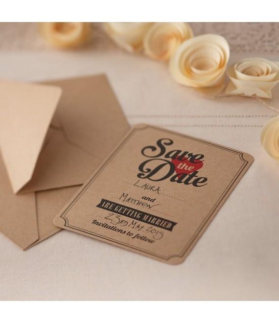 Save the date kaarten Kraft 1 - The Beautiful Bride Shop