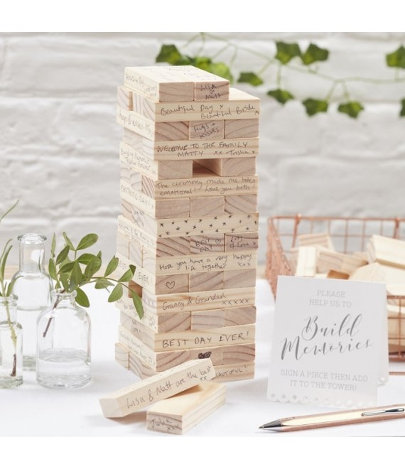 Altenatief gastenboek - Building blocks 1  - The Beautiful Bride Shop