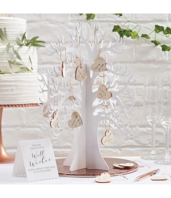Houten wensboom met hartjes - BB-286