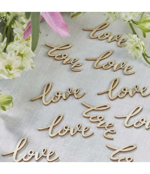 Houten letters Love - Boho BH-732 - The Beautiful Bride Shop