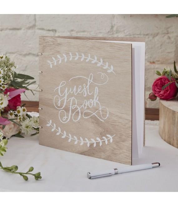 Houten gastenboek Boho - The Beautiful Bride Shop