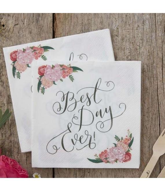 Best Day Ever servetten BB-752 - The Beautiful Bride Shop