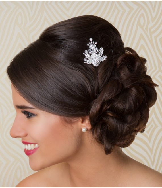 Haarkam met strass NO1097 G. Westerleigh - The Beautiful Bride Shop
