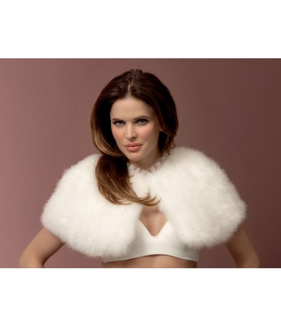 Marabou Cape BOL-13, Poirier - The Beautiful Bride Shop