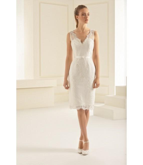 Vintage trouwkleed Evita (voorzijde)  | Bianco Evento