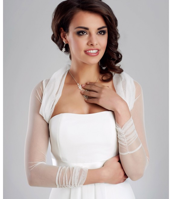 Bolero van stretch tulle E122A - The Beautiful Bride Shop