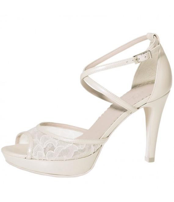 Fiarucci Bridal Bruidsschoenen Keshia Perle Lace/ Leather
