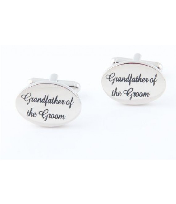 Manchetknopen Grandfather of the Groom - The Beautiful Bride Shop