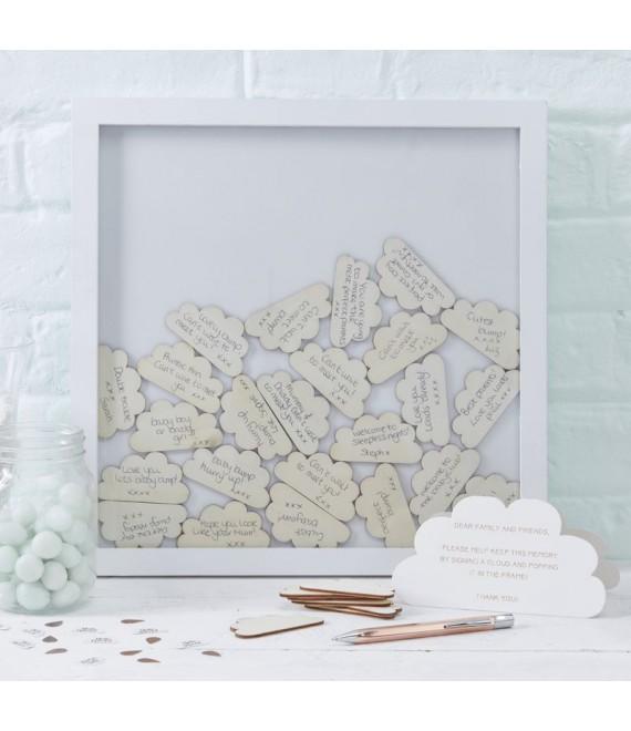 Wolken frame gastenboek Ginger Ray 1 - The Beautiful Bride Shop