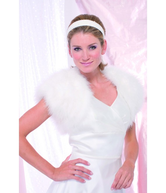 Achberger marabou jasje 5680221 - The Beautiful Bride Shop