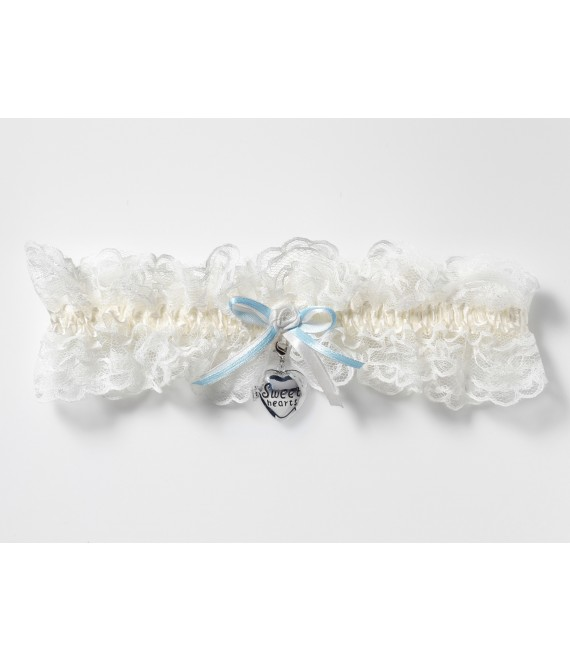Luxe Kousenband met medaillon KB-33 Poirier - The Beautiful Bride Shop