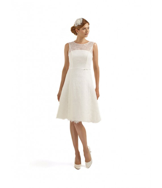 Short vintage wedding dress Calendula - The Beautiful Bride Shop