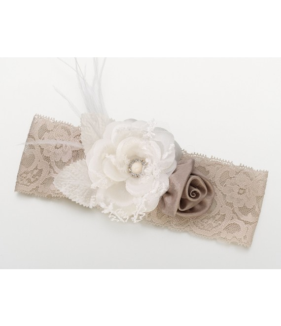 Lillian Rose  Brede vintage kousenband van kant - The Beautiful Bride Shop