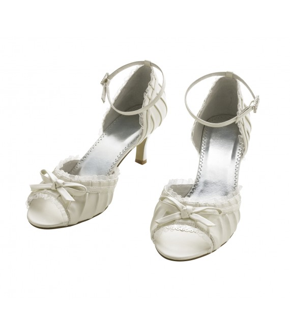Lilly bruidsschoenen (07-1965-CR) - The Beautiful Bride Shop