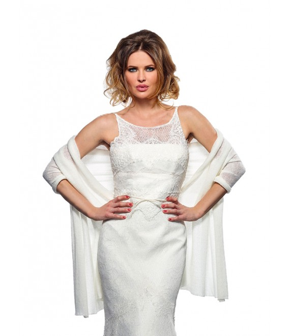 Bridal Stole S167 1 Poirier - The Beautiful Bride Shop