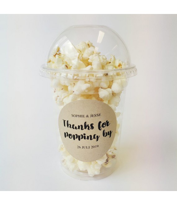 Popcorn Beker - Thanks for popping by