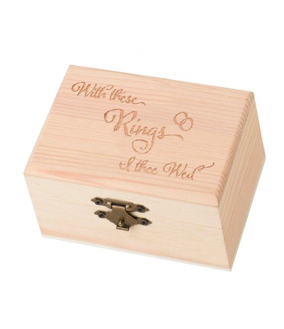 Houten Ringendoosje  with these rings I thee wed RA502W - The Beautiful Bride Shop