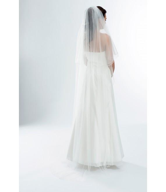 2-laags sluier met lockrand S165  - The Beautiful Bride Shop