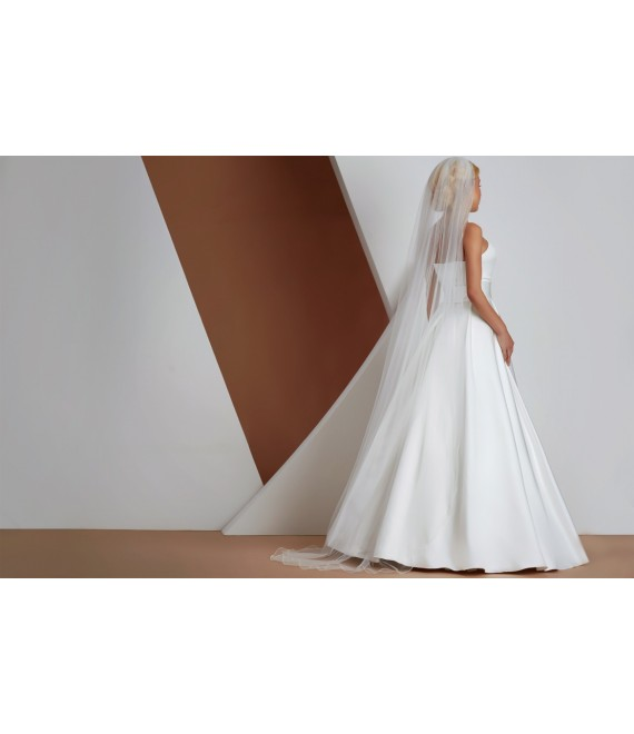 Prachtige sluier van kant met met lockrand S166  - The Beautiful Bride Shop