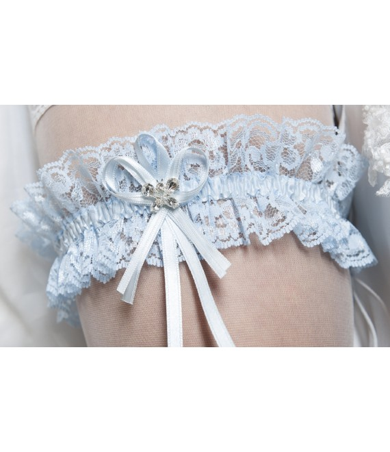 Kousenband Blauw - The Beautiful Bride Shop