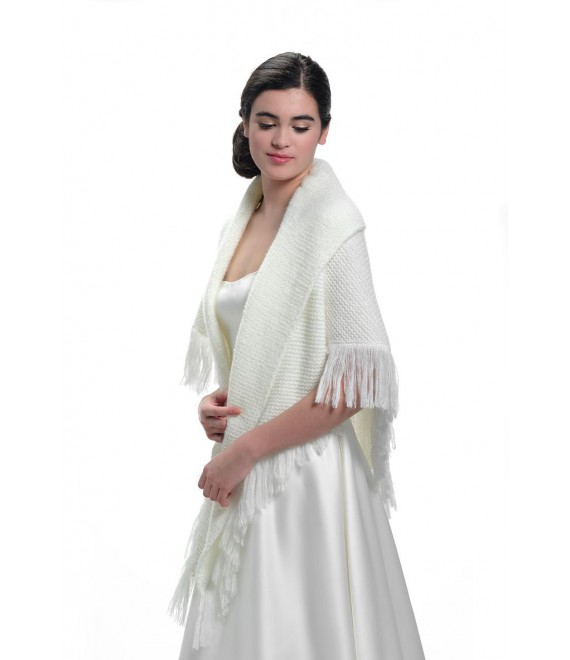 Gebreide stola S172 Poirier 1 - The Beautiful Bride Shop