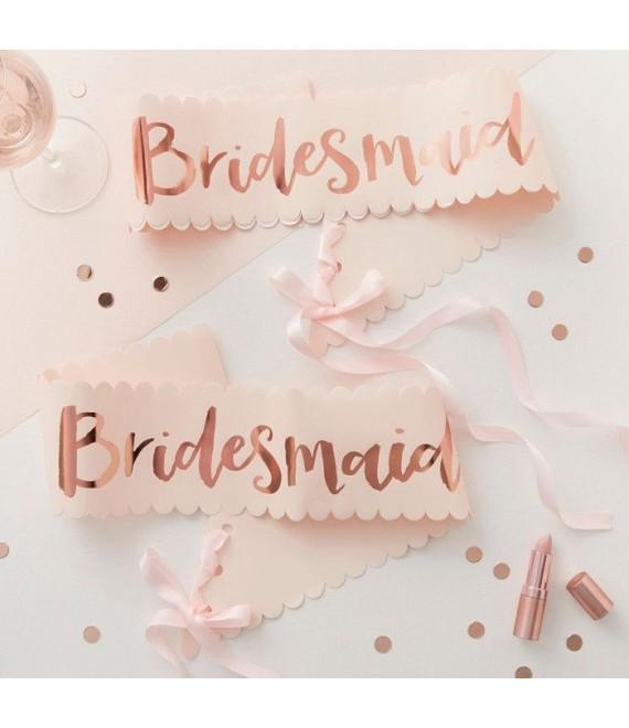 Bridesmaid sjerpen roze-roségoud Team Bride 1 - Team Bride