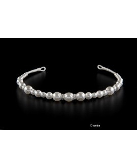 Weise tiara met parels (820905)