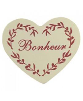 knijper met hartje (Bonheur) | 5x5 cm | per 6 stuks (60469)