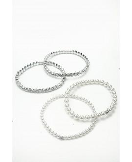 Sophia   Set 4 Armbanden - Abrazi 4 Bracelet Set
