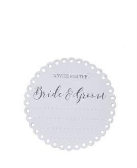 Onderzetters Advice for the Bride & Groom (20st) - Beautiful Botanics