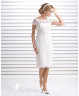 Korte strapless bruidsjurk Aprilia, Bianco Evento