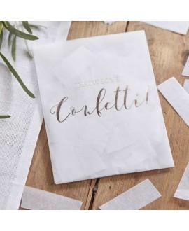 Confetti envelopje wit