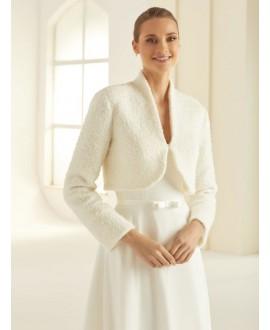 Bolero van hoogwaardige wol E293 Bianco Evento