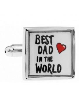 Manchetknopen Best dad in the world