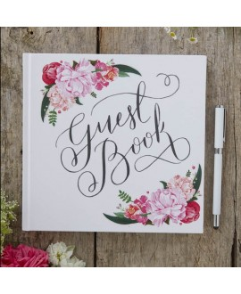 Bloemen gastenboek Boho