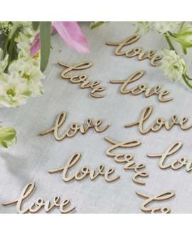 Houten letters Love - Boho