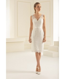 Vintage trouwkleed Evita | Bianco Evento