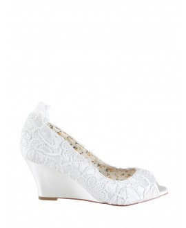 The Perfect Bridal Company Bruidsschoenen Flora Kant
