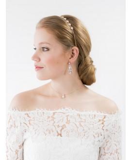 Scarlett | Bruids Oorbellen - Abrazi O6-RND-SKT Rose