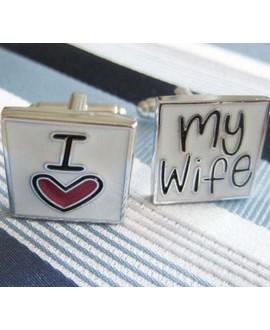 Manchetknopen I love my Wife