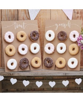 Rustic Country Donut Wall