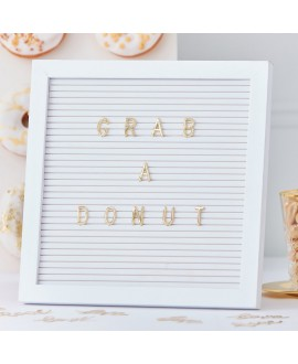 Letterbord gouden letters | Gold Wedding