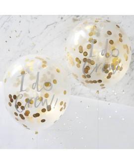 I Do Crew! Confetti Ballonnen Goud (5st)