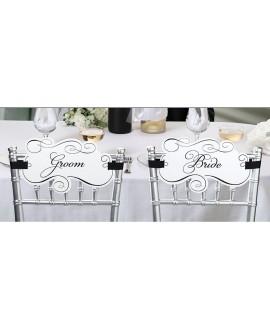 Bride & Groom stoelplaat